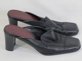 Aerosoles Whats What Black Leather Mule Heels S... - $14.73