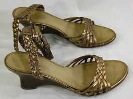 Etienne Aigner Cooper Leather Open Toe Ankle St... - $18.81