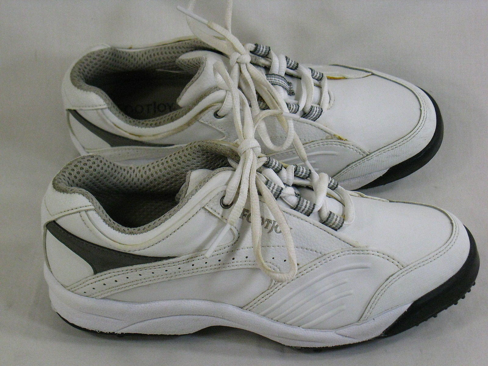 Footjoy Greenjoys White Leather Golf Shoes Size 6 M US Soft Spikes Excellent