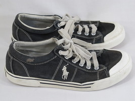 Polo Ralph Lauren Canvas Gainsley Sneaker Shoes 7.5 D US Excellent Distr... - $18.69