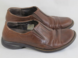 Merrell Tetra Brown Leather Loafer Shoes Womens Size 8 M US Excellent - $35.64