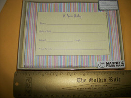 Home Gift Baby Birth Announcement Set Carlton Cards Magnet Photo Frame K... - $23.74