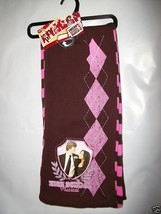 Disney High School Musical Girl Clothes Pink Scarf Brown Striped Neck Ac... - $6.64