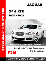 Details about   JAGUAR XF XFR 2008 2009 FACTORY OEM WORKSHOP SHOP FSM MA... - $14.95