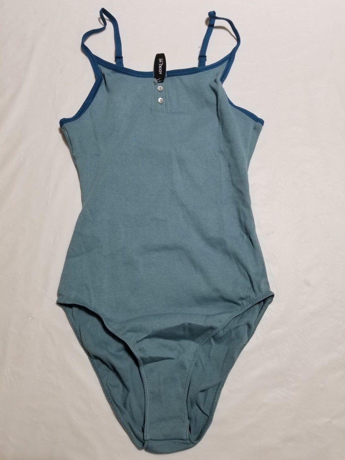 Adore Me Migdalia Bodysuit Smoke Blue Size S NWT