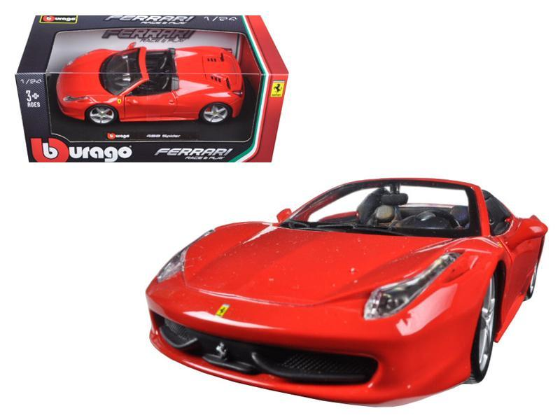Ferrari 458 Spider 1:24 Diecast Model Car by Bburago