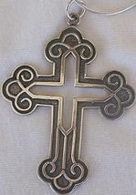 Big Celtic Cross silver chain - $36.00