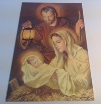 vintage French Canadian  Christmas glossy greeting card/ Carte De Noël - $8.25