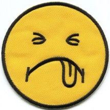 Sick smiley face punk biker retro embroidered applique iron-on patch S-1421 - $2.95