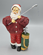 Fabriche Golfer Santa Figurine with Golf Clubs and Golf Bag Christmas - $14.95