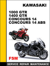 Details About  Kawasaki 1000 Gtr 1400 Gtr Concours 14 Abs Oem Repair  Manual Acce - $14.95
