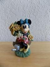 Disney Minnie Mouse Sunflower Gardening Figurine  - $30.00
