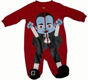 Baby Boys Lil Vampire Footed Sleeper