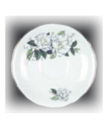 Vintage Royal Kent England  Bome China Saucer WHITE FLOWERS 1960's - $5.95