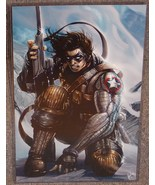 Captain America Winter Soldier Glossy Print 11 x 17 In Hard Plastic Sleeve - $24.99