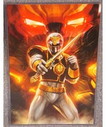 Power Rangers White Ranger Glossy Print 11 x 17 In Hard Plastic Sleeve - $24.99