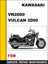 Details About  Kawasaki Vn2000 Vulcan 2000 Factory Service Repair Manual Access - $14.95