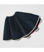 Quilted Tree Skirt Reversible Blue/Red Dot Plaid Hearth & Hand with Magn... - $39.59