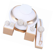 Sets for Women- Wedding Brides 18k Gold/Silver Plated- Prom Party Neckla... - $31.03+