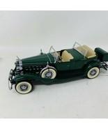 Danbury Mint 1932 CADILLAC V-16 SPORT PHAETON GREEN 1:24 CAR - $72.55