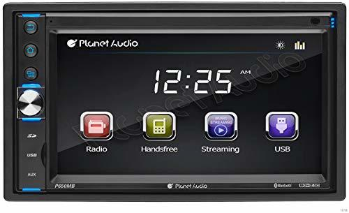 Planet Audio P650MB Double Din, Touchscreen, Bluetooth, MP3/USB/SD AM/FM Car ...