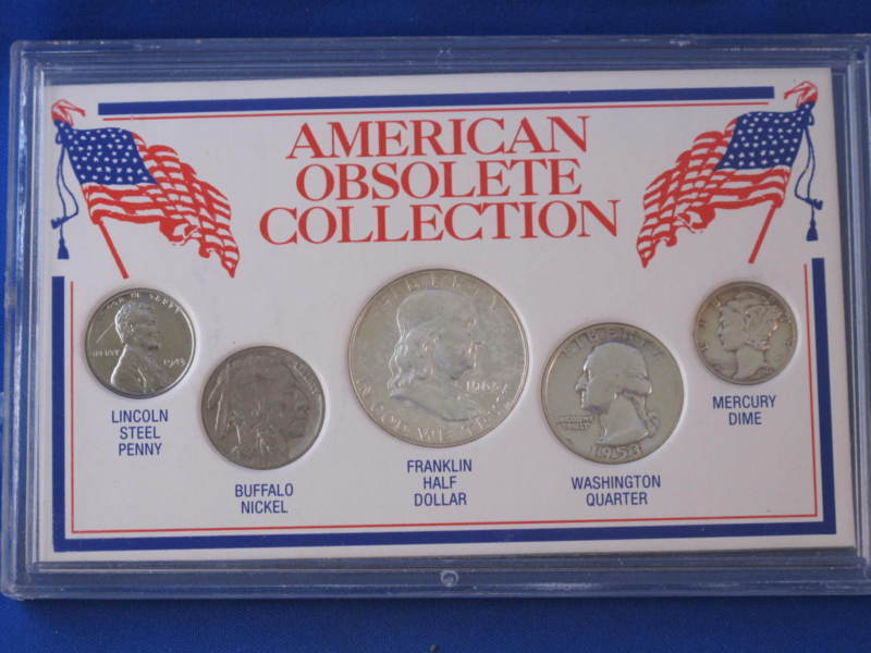 United States American Obsolete Collection 5 Coin Set