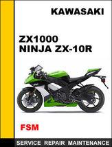 Details About  Kawasaki Zx1000 Zx10 R Ninjar Factory Service Repair Manual Acces - $14.95