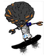 Alien Kid on Skateboard-Digital Download-ClipArt-ArtClip-Digital Art  - $4.00