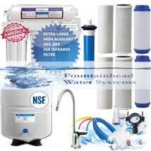 Reverse Osmosis Alkaline/Ionizer ORP Water Filter 8.5-0 Ph Brushed Nicke... - $194.62