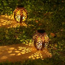 Outdoor Solar Lanterns 2 Pack Solar Lanterns Outdoor Hanging Decorations... - $44.33