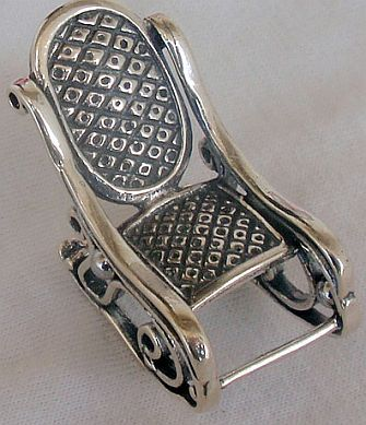 Rocking chair silver miniature
