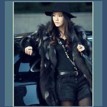 Natural 100% Silver Long Hair Genuine Fox Fur Short Trench Coat Jacket