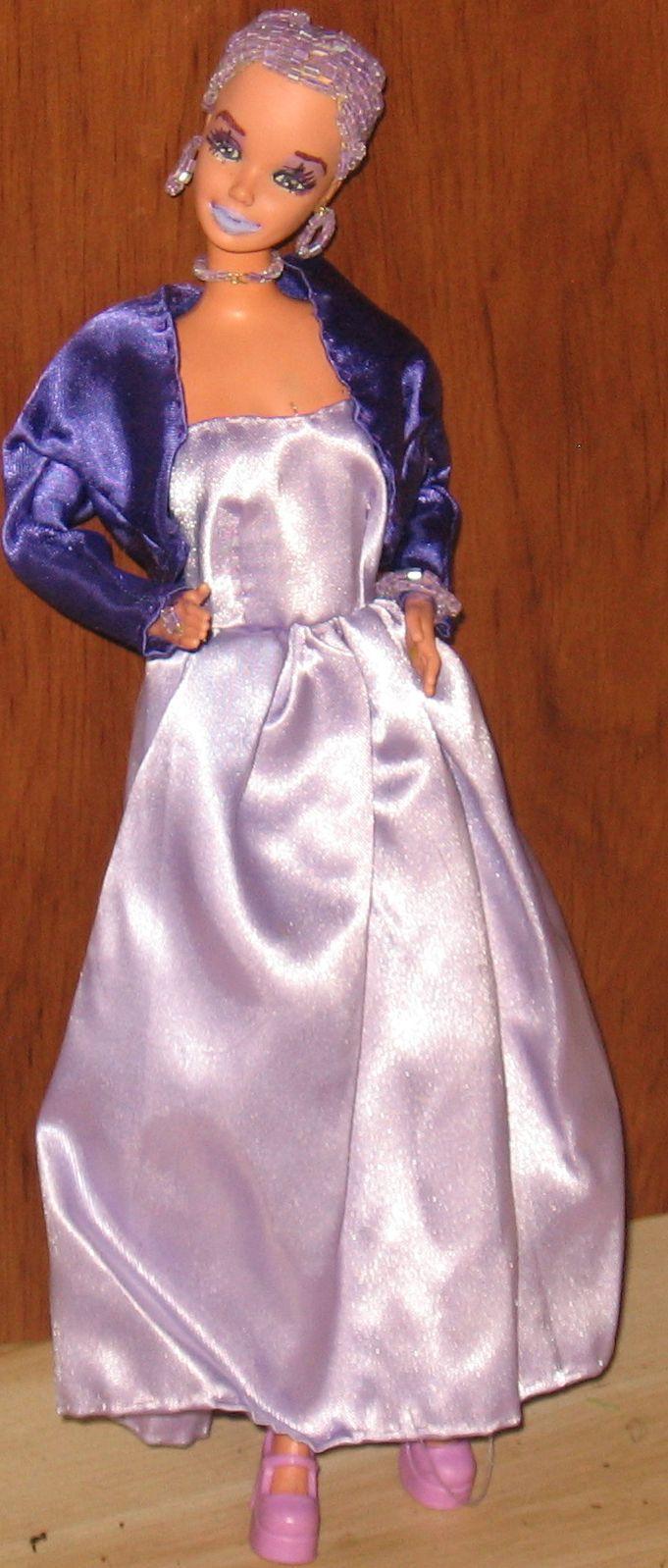 Beaded Hair Fashion Doll  Giovanna OOAK Refashioned Barbie