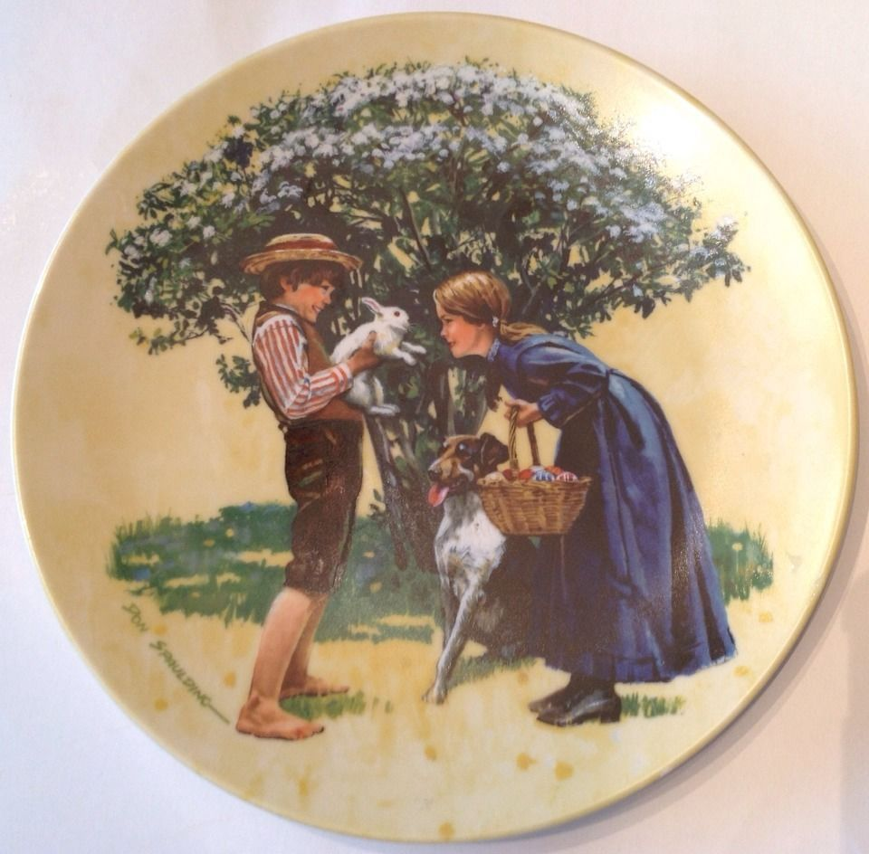 "Knowles China Collectors Plate ""Easter"" by Don Spaulding 3rd Issue Vintage 1980"