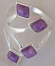 Purple branch silver ring 1 thumb200