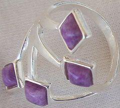 Purple branch silver ring 3 thumb200