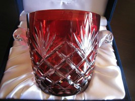 Ruby Red Faberge Ice Bucket in the original presentation box - $395.00