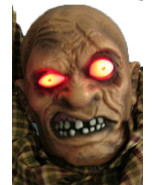 Animated Hanging Zombie 55 inch Halloween Prop - $63.86