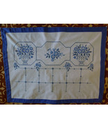 Croatian vintage traditional folk decorative table cloth 50 yrs old hand... - $77.22