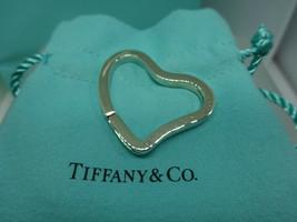 Tiffany & Co Sterling Silver Elsa Peretti Key Ring Chain Heart Charm Pen... - $135.00