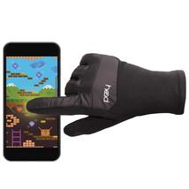 HEAD Jr Junior Girls Black Silver Hybrid Sensatec Touchscreen Winter Gloves NWT image 2