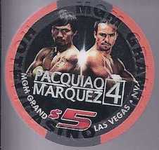 $5 Mgm Grand Las Vegas Pacquiao V Marquez 4 Dec 8 2012 Boxing Chip - $14.95