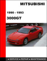 Details About  Mitsubishi 3000 Gt 1990   1993 Factory Oem Repair Manual Access I - $14.95