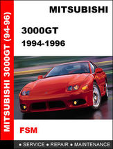 Details About  Mitsubishi 3000 Gt 1994   1996 Factory Oem Repair Manual Access I - $14.95
