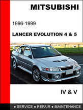 Details About  Mitsubishi Evolution Iv V 1996 1999 Factory Repair Manual Access - $14.95