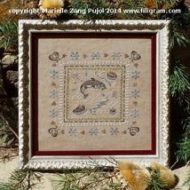 Whitewater Trout cross stitch chart Filigram - $9.90