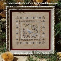 Snow Ptarmigan cross stitch chart Filigram - $9.90