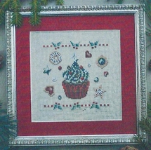Christmas Cupcake cross stitch chart Filigram - $7.20