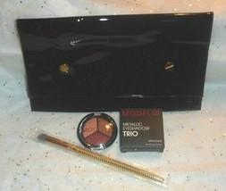 3 pc Lot ~ Modelco Metallic Eyeshadow Mykonos+Moda Triad Eye Brush+Makeu... - $12.13