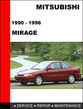 Details About  Mitsubishi Mirage 1990   1996 Factory Service Repair Manual Acce - $14.95
